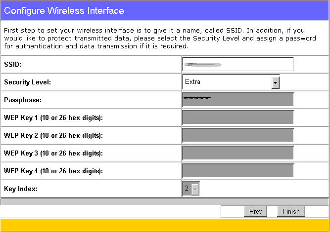 wl566 configure wireless interface